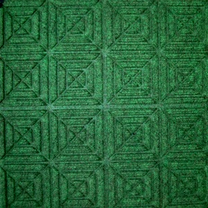 Waterhog Entry Tile Green Geometric (6mm) - Quantity to be confirmed